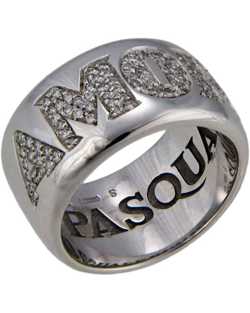 Pasquale Bruni AMORE 18K White Gold Ring – Size 6.75