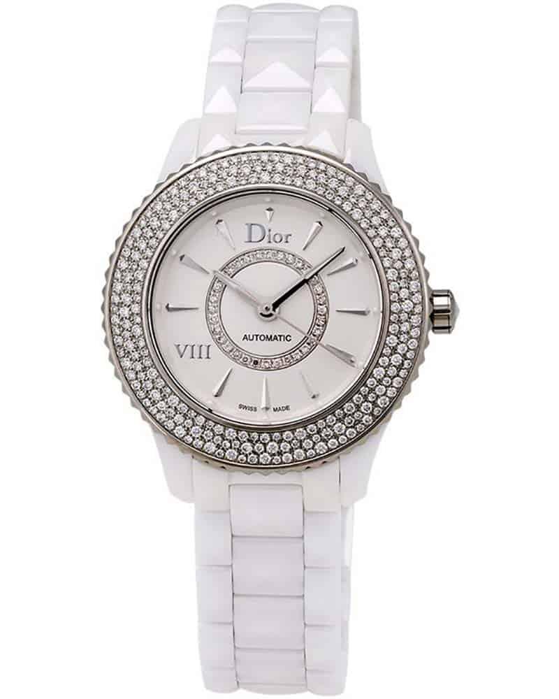 dior dior viii white ceramic and stainless steel diamond ladies watch cd1235e5c0 ebay On ceramic ladies watch