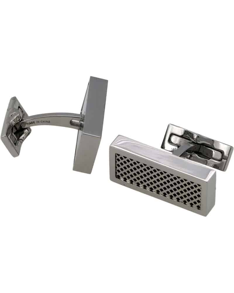 S.T. DUPONT – Defi Stainless Steel with Black Grill Cufflinks