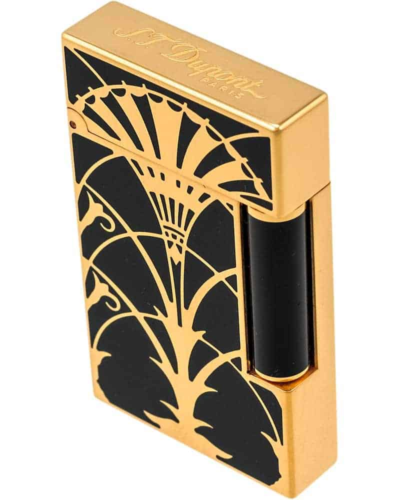 ST DUPONT - Art Nouveau Ligne 2 Lacquer Lighter w/Gold Finish