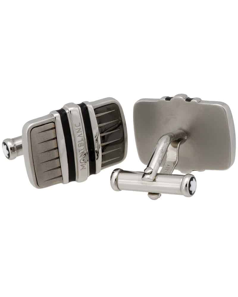 MONTBLANC Classic Collection Black Brushed Steel Cufflinks