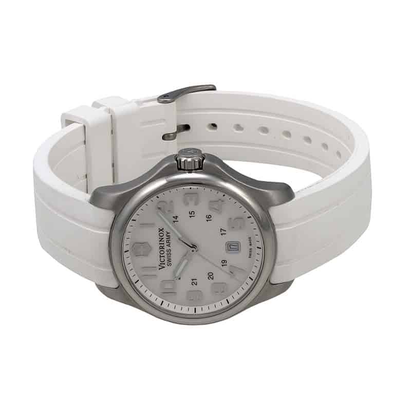 victorinox swiss army army officer white dial women 39 s watch 241366