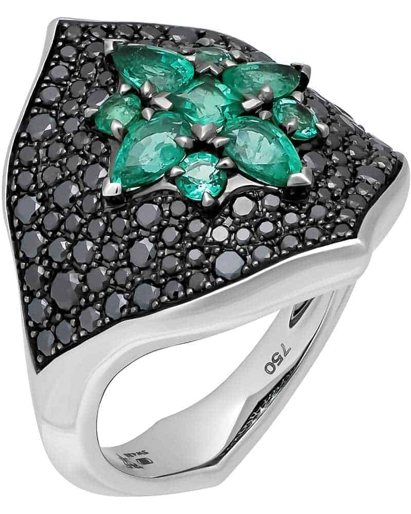 STEPHEN WEBSTER – 'Belle Epoque' 18K White Gold Ring, Size 6.75