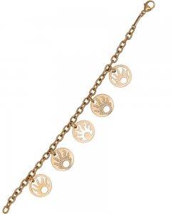 Chopard 18K Rose Gold Happy Sun Diamond Charm Bracelet