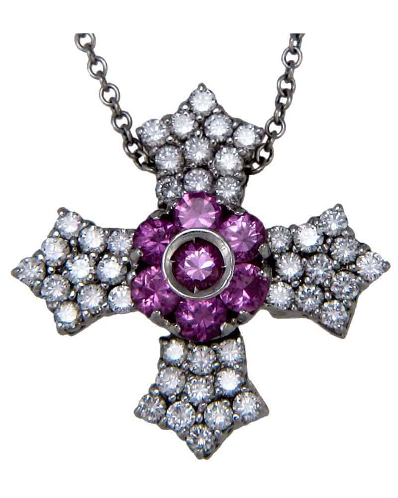 Pasquale Bruni FLOWER 18K White Gold Necklace