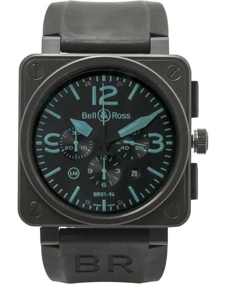 Bell & Ross Aviation BR01 94 PVD LE Chronograph Automatic Watch BR01-94-SBlu