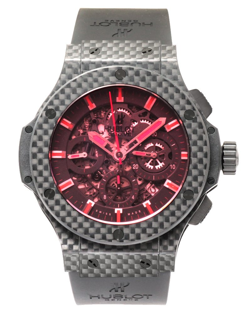 Hublot Aero Bang Red Carbon Chronograph Automatic Men's Watch – 311.QX.1134.RX