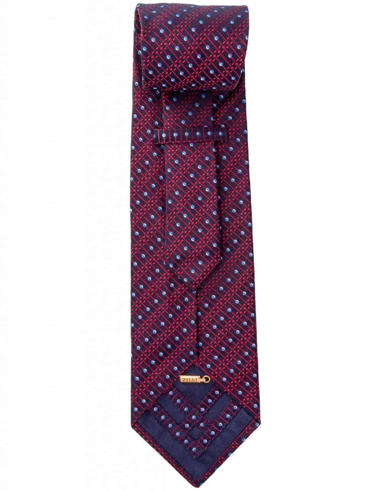 Zilli - 100% Silk Tie Maroon 4919V03