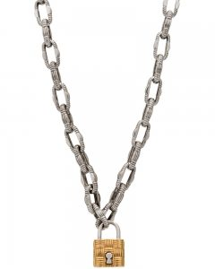 Roberto Coin 18K Rose and White Appassionata Locket Necklace