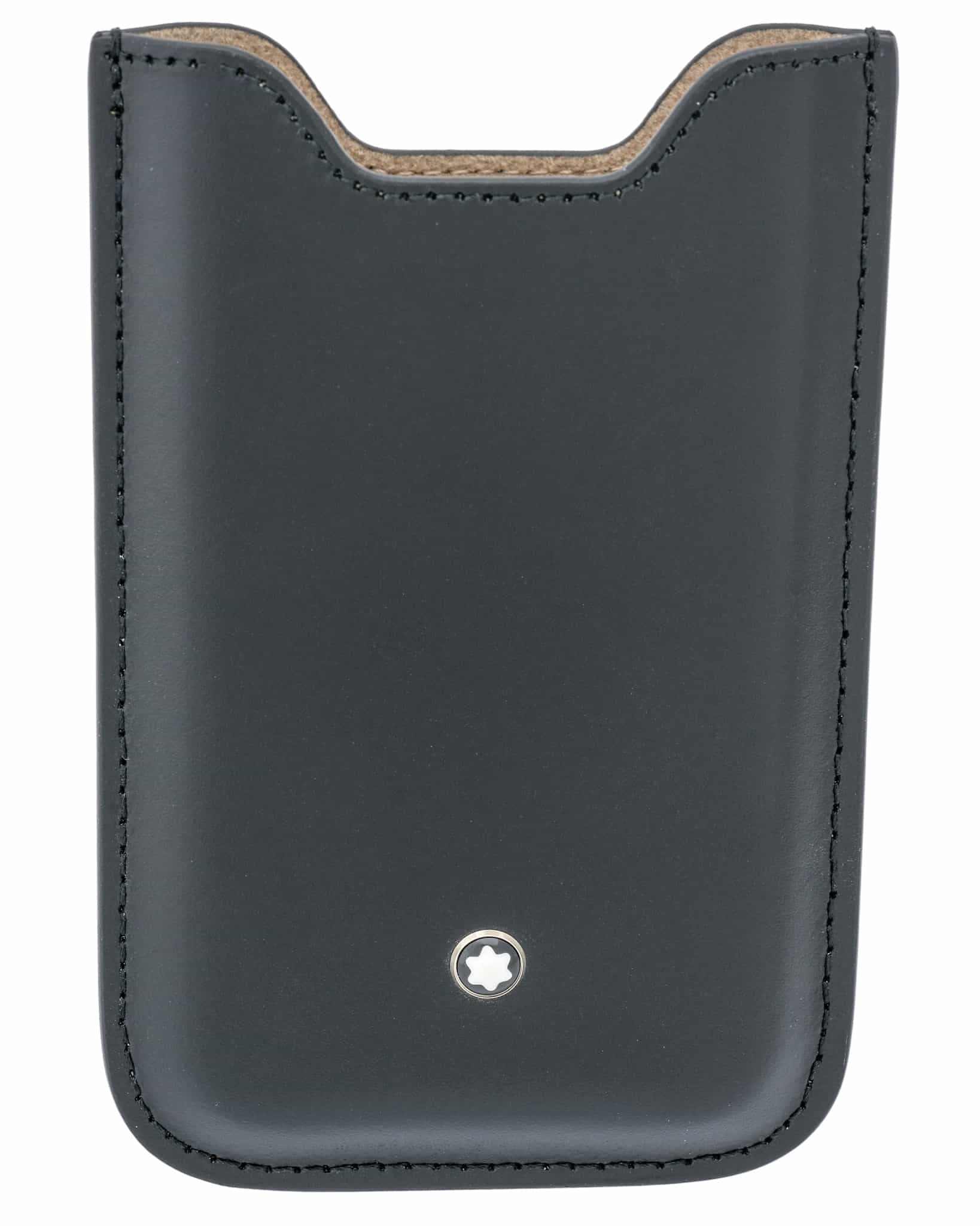 Montblanc Black Calf Leather Iphone SE Case 108009