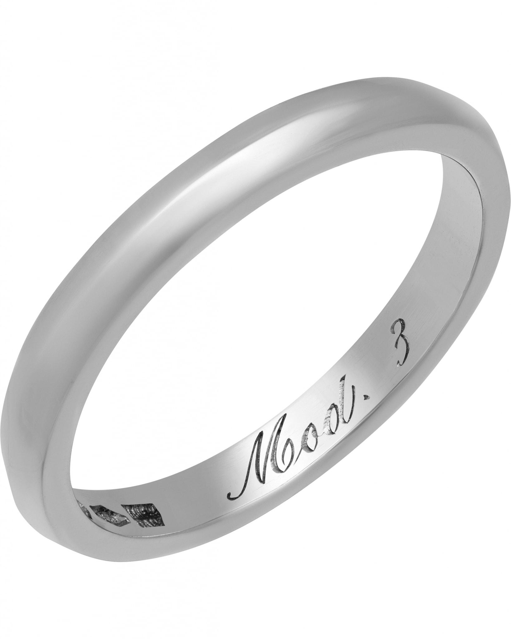 Bvlgari Wedding Ring Platinum Mod. 3 AN852825 337925 Ring Sz 5