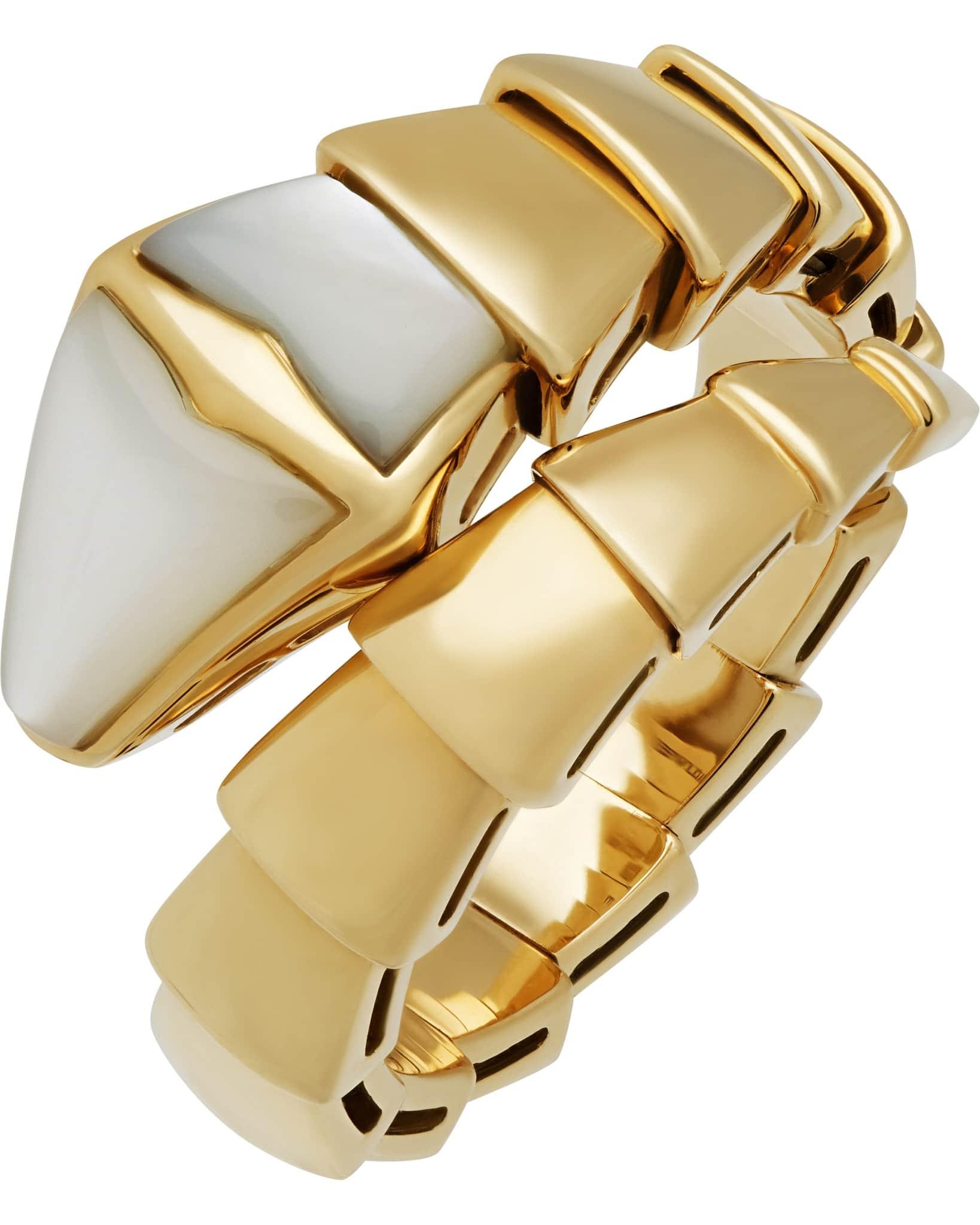Bvlgari Ring Serpenti 1 Band Yellow Gold Ring – Size 6.5AN855765