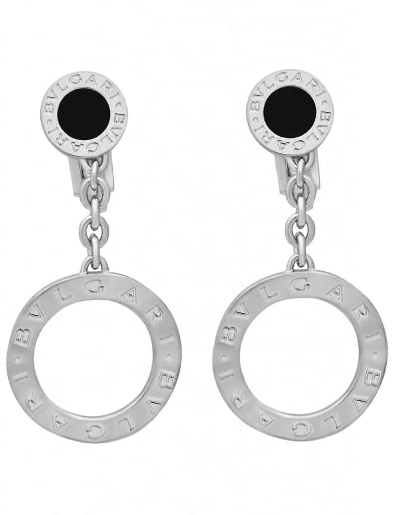 Bvlgari Bvlgari 18k White Gold Onyx Drop Earrings OR854640 343400