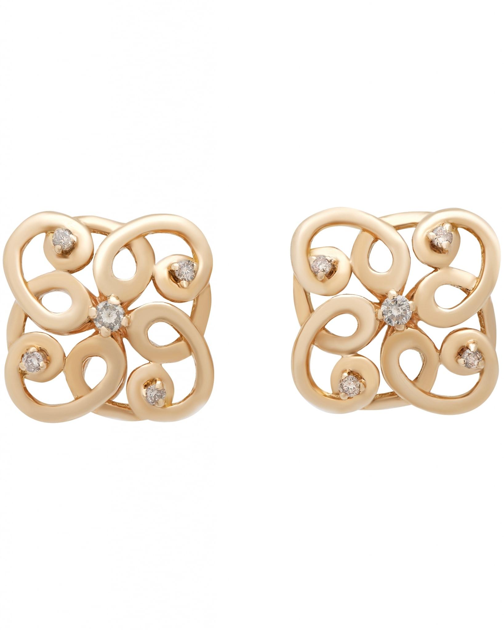 GIANNI LAZZARO – 18K Rose Gold, Diamonds, Earrings 5439