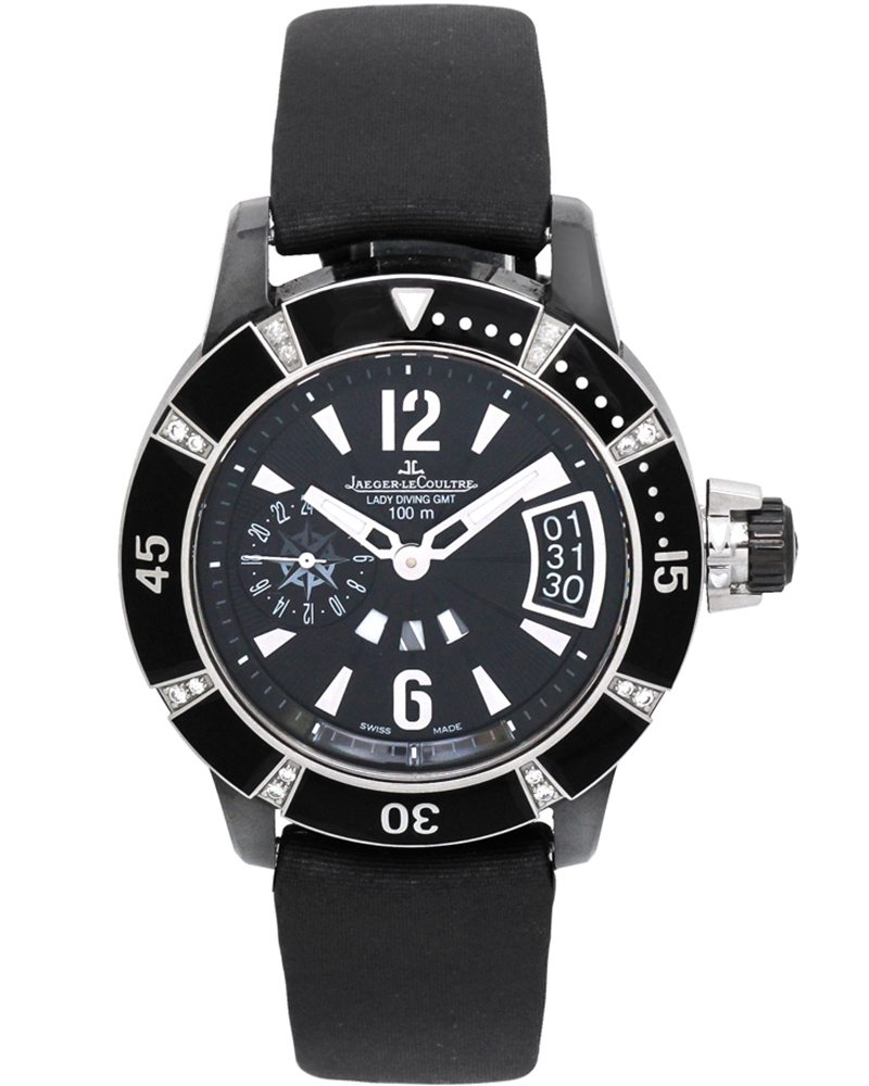 Jaeger lecoultre master compressor diving gmt lady ceramic watch q189c470 for Lecoultre watches