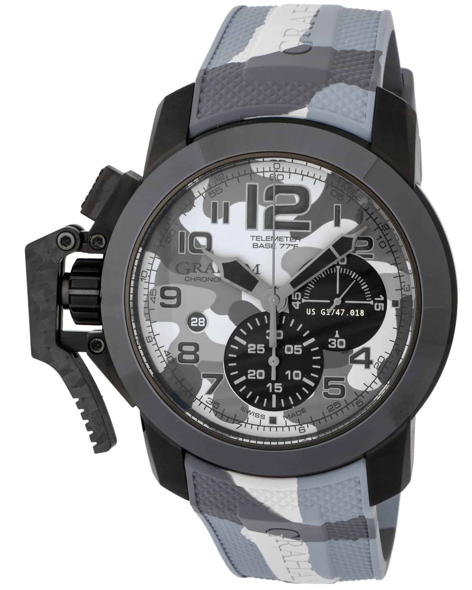 Graham Chronofighter Oversize Black Arrow LE Chronograph Men's Watch – 2CCAU.S02B