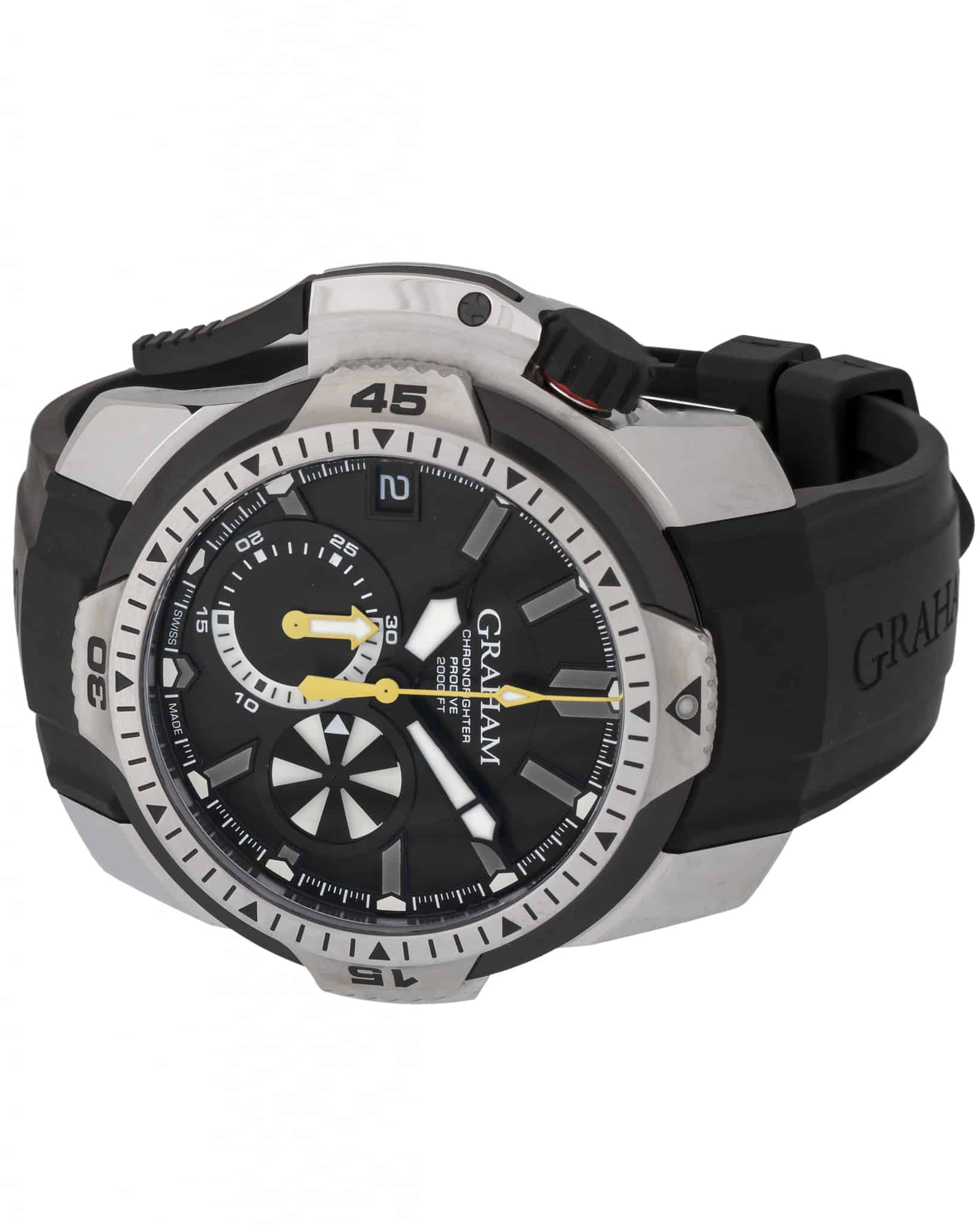 with large chronofighter watches zoom graham product gmt watch