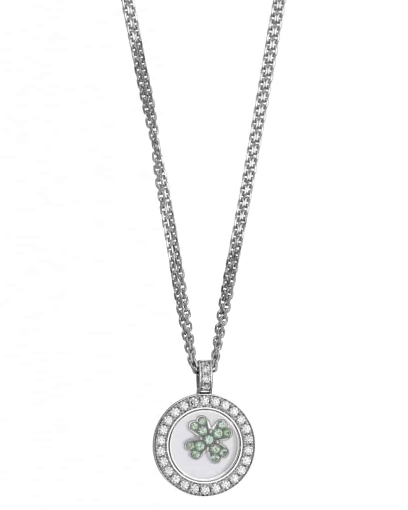 Chopard 18K White Gold Happy Diamonds Clover Necklace 79-5933-0-20