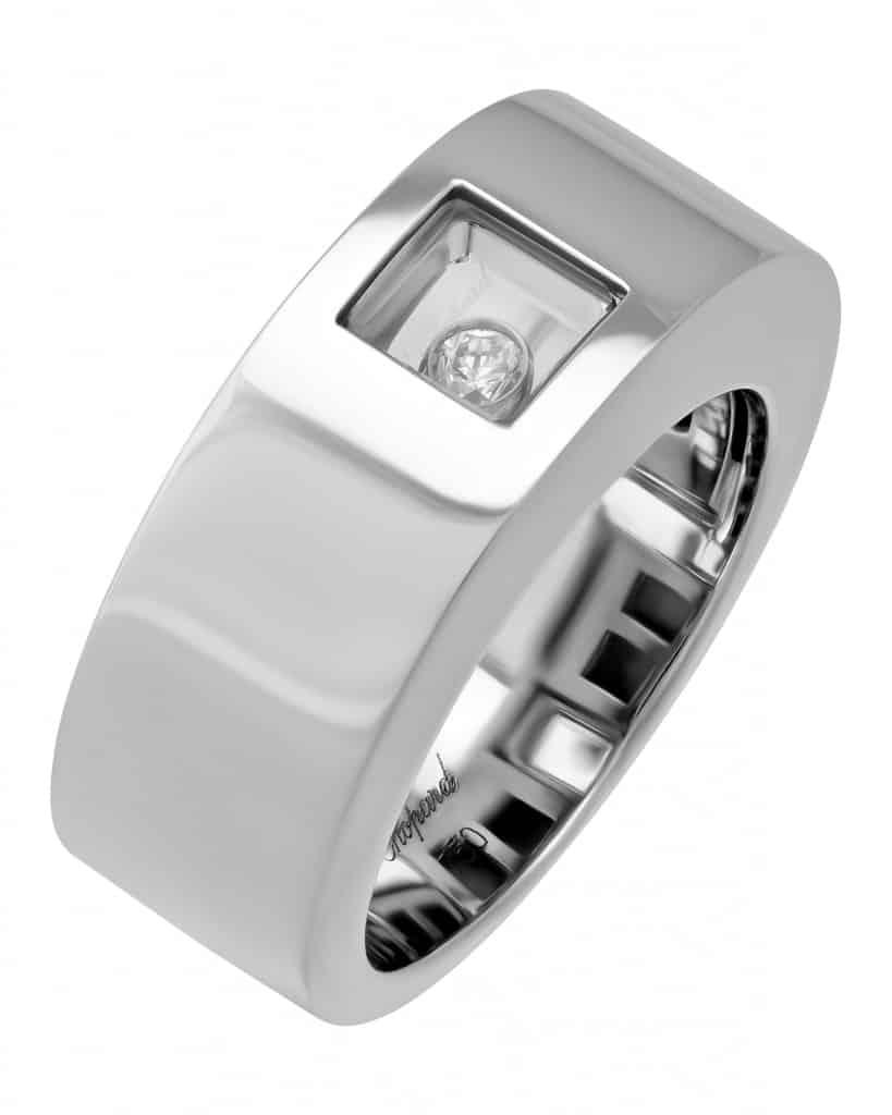 Chopard 18K White Gold Happy Diamonds Ring – Size 6 82-3035-20