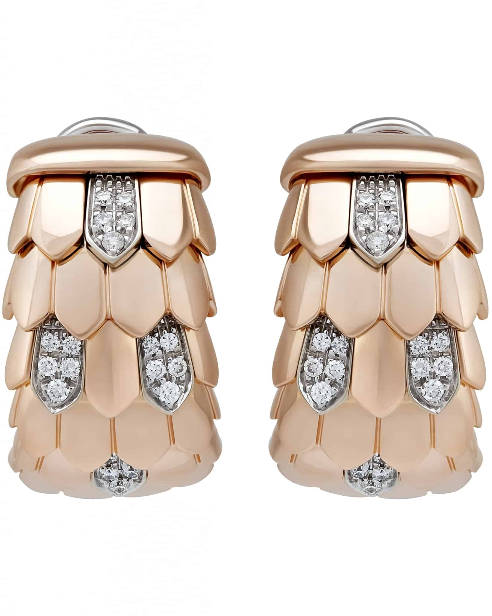 Roberto Coin – 18K Rose Gold, Diamond & Ruby Earrings ADR128EA0367