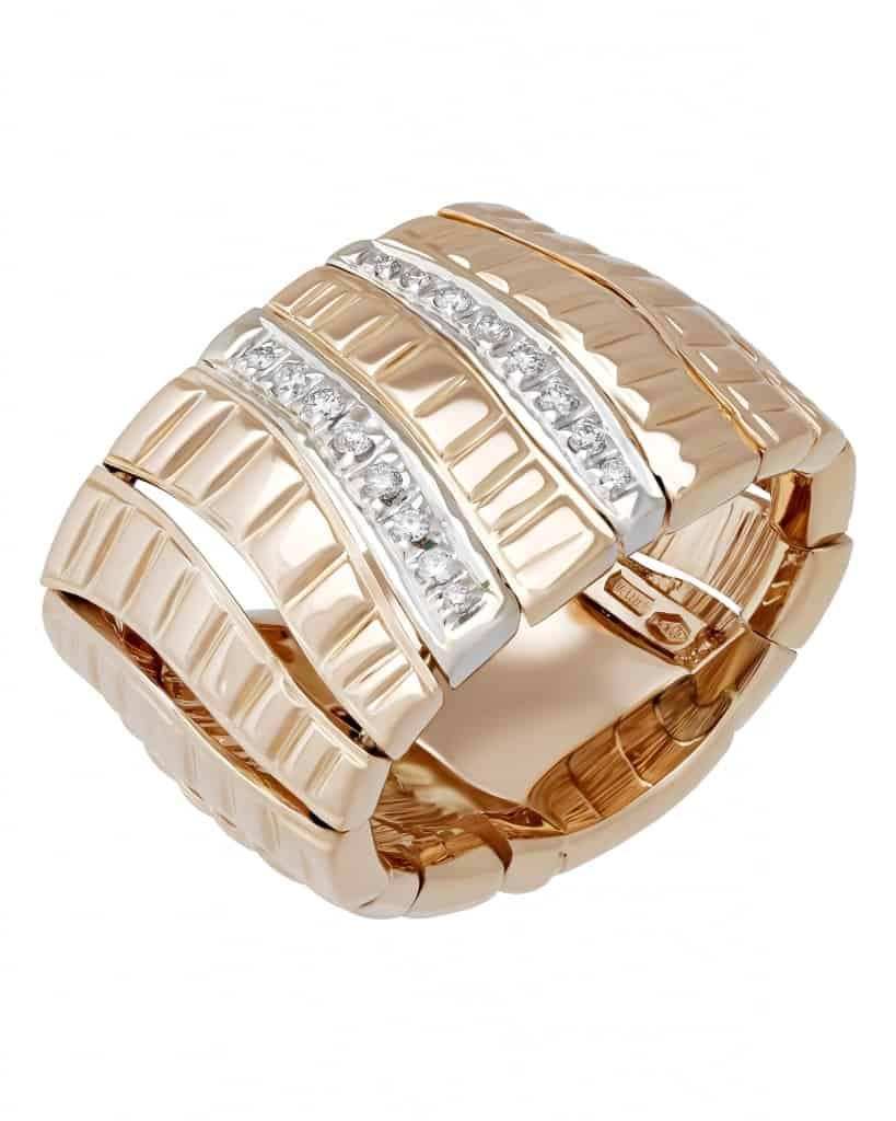 Roberto Coin – 18K Rose Gold, Diamond & Ruby Ring Sz 6 ADR130RI0869