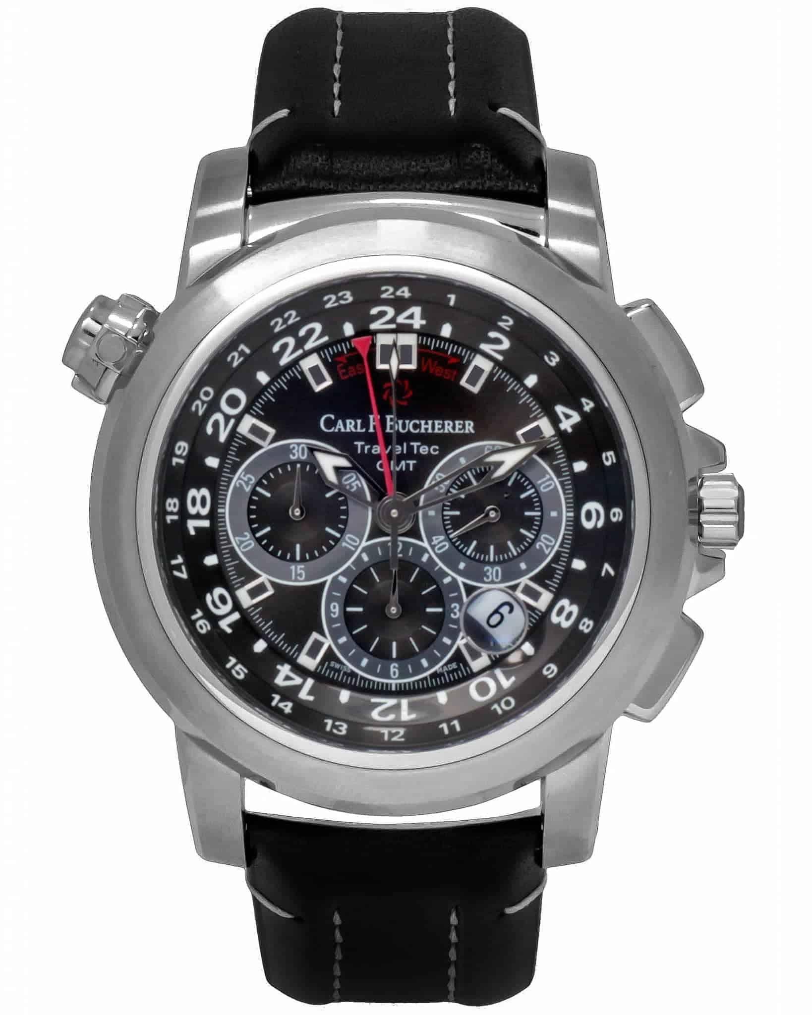Carl F. Bucherer Patravi TravelTec Chronograph Timezone Men's Watch – 00.10620.08.33.01