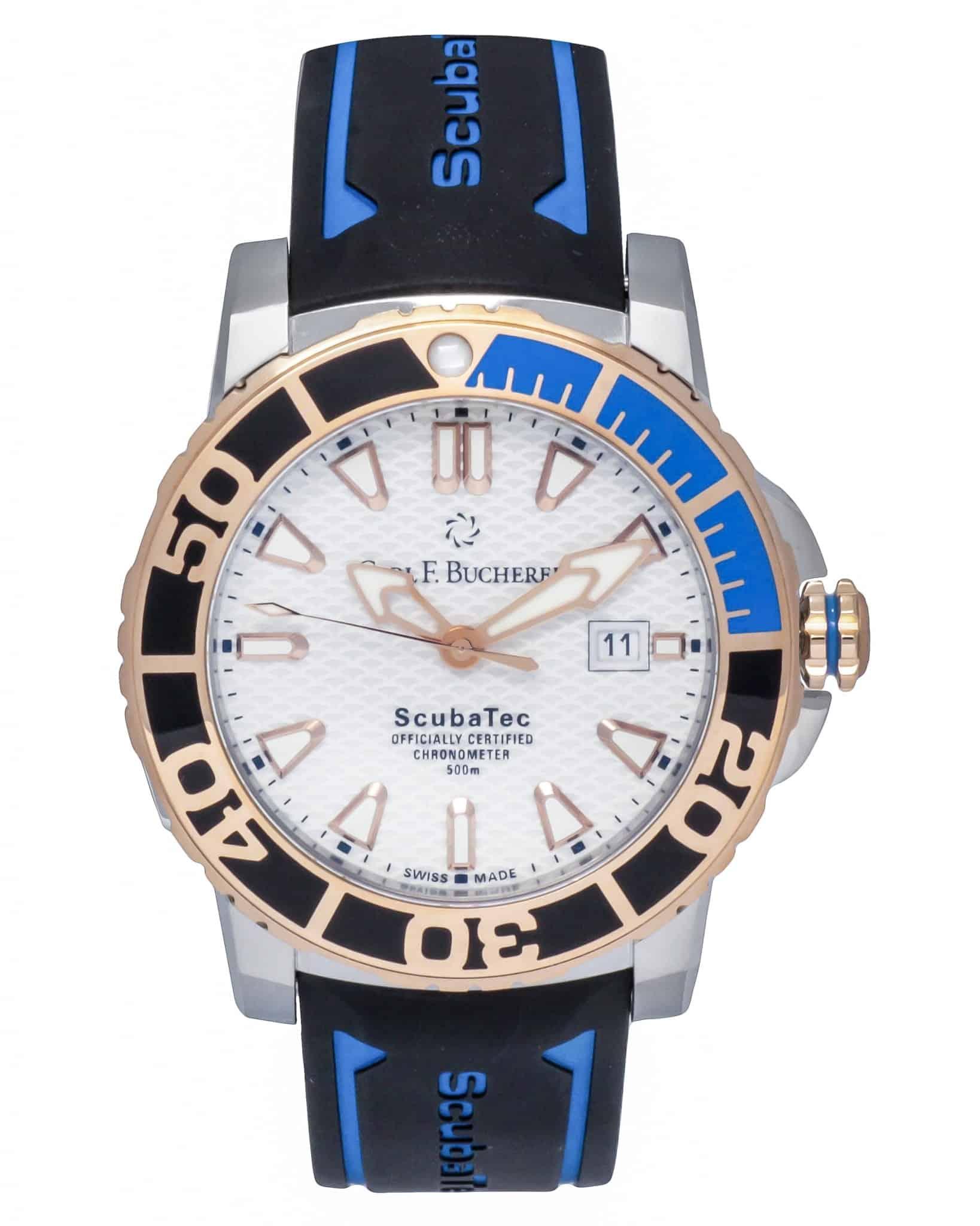 Carl F. Bucherer Patravi ScubaTec 18K Rose Gold & Steel Automatic Men's Watch – 00.10632.24.23.01