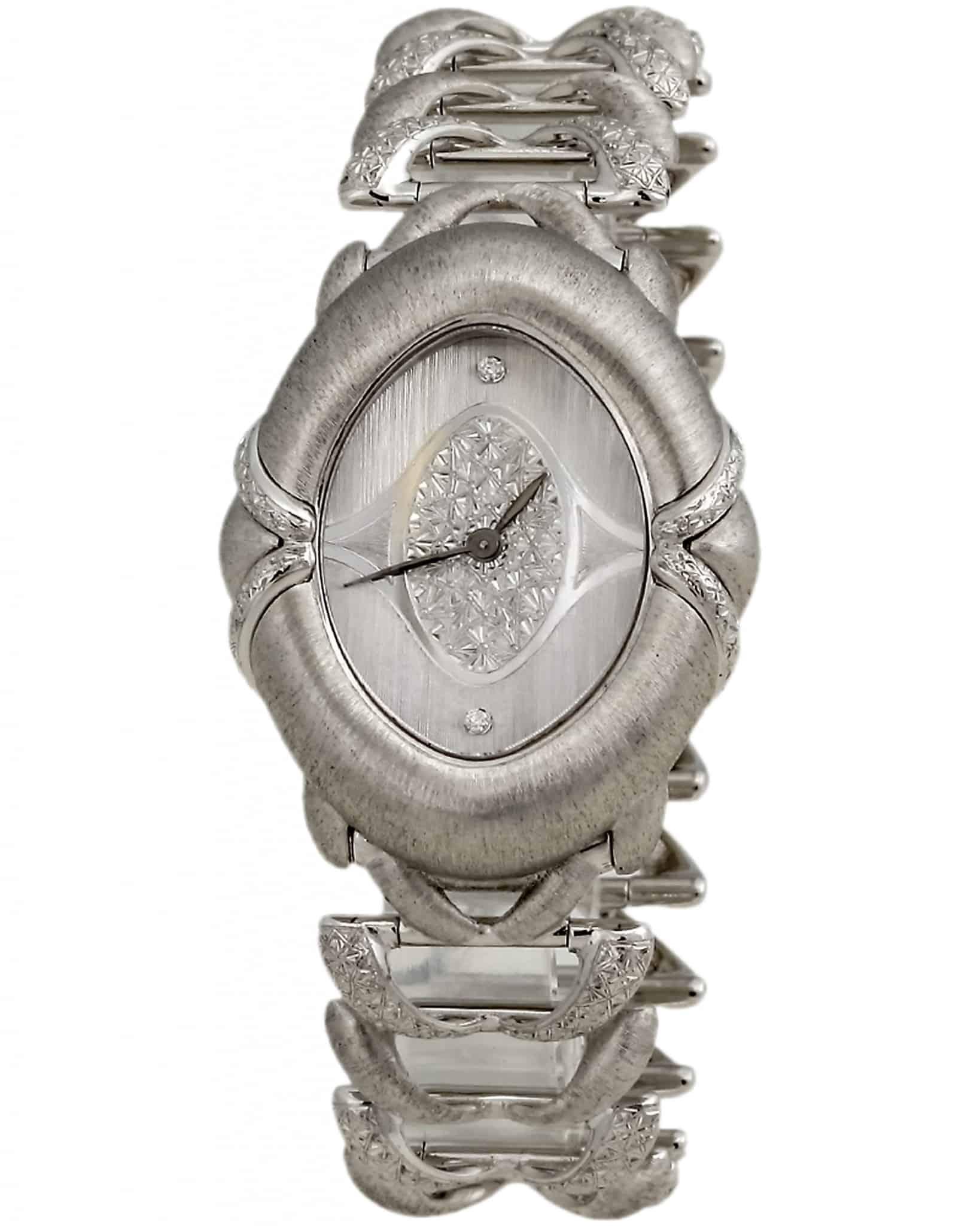BUCCELLATI Olympochron 18K White Gold Quartz Watch 17522D0287W1281