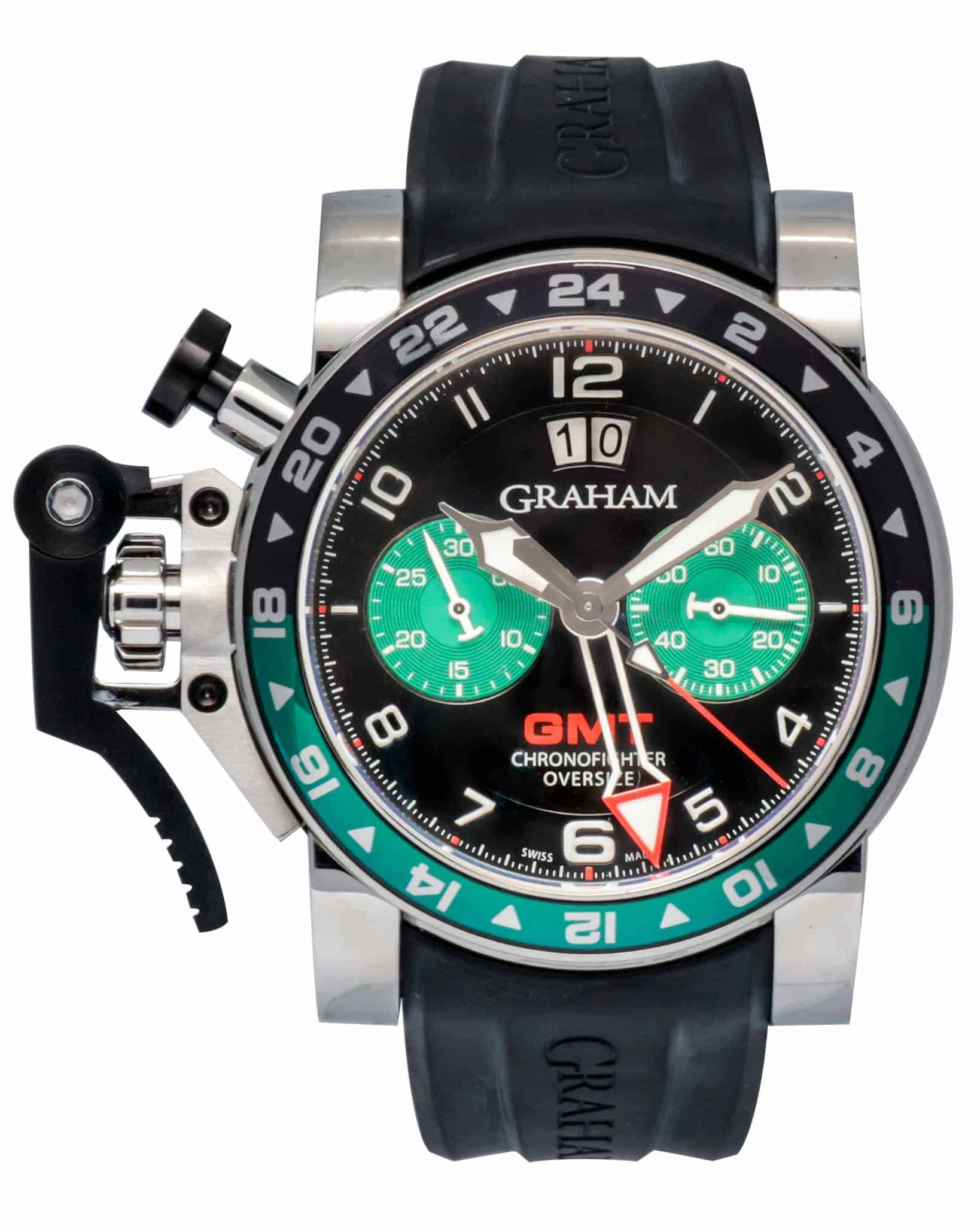 Graham Chronofighter Oversize GMT Chronograph Men's Watch – 2OVGS.B12A.K10