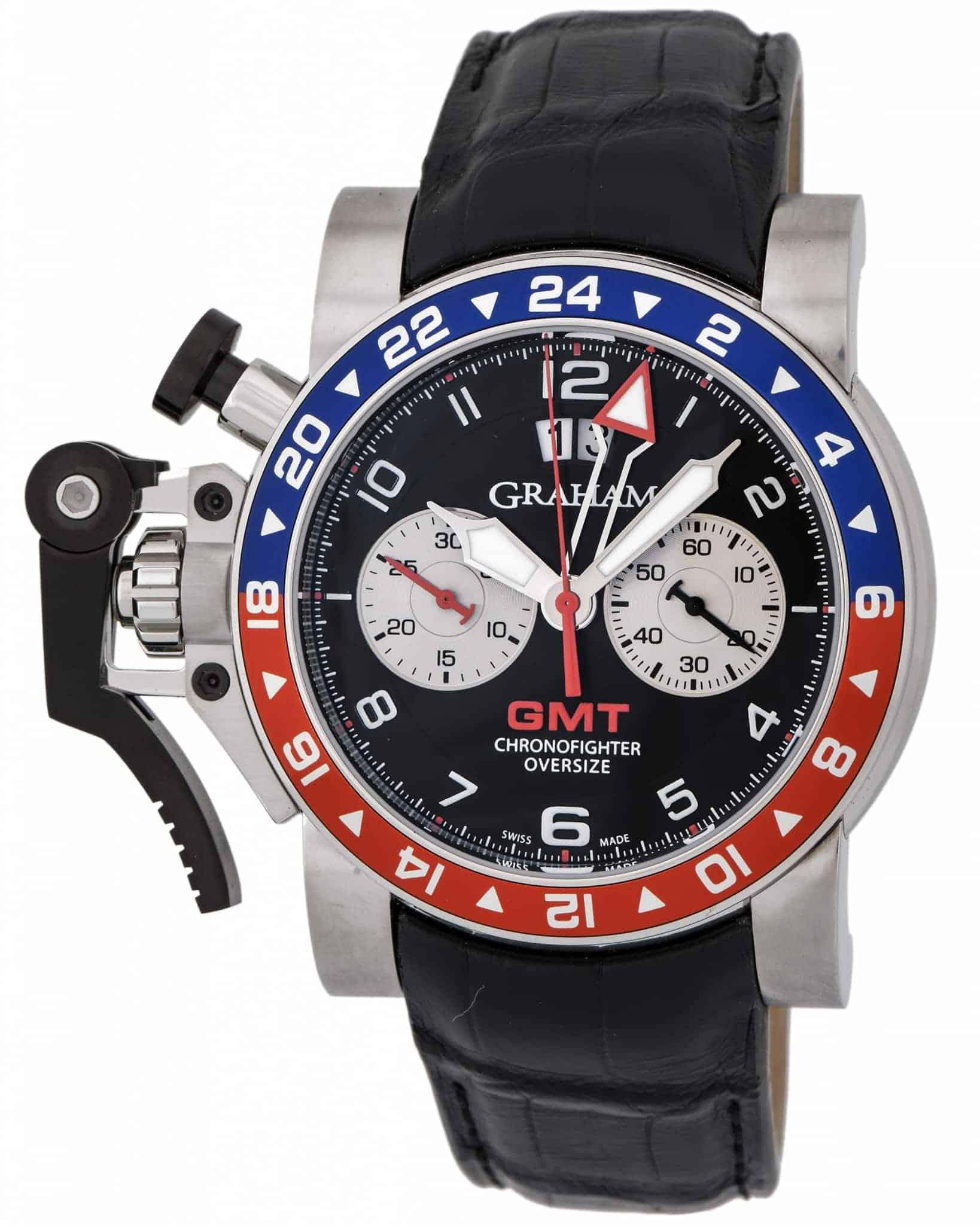Graham Chronofighter Oversize GMT Chronograph Men's Watch – 2OVHS.B39A