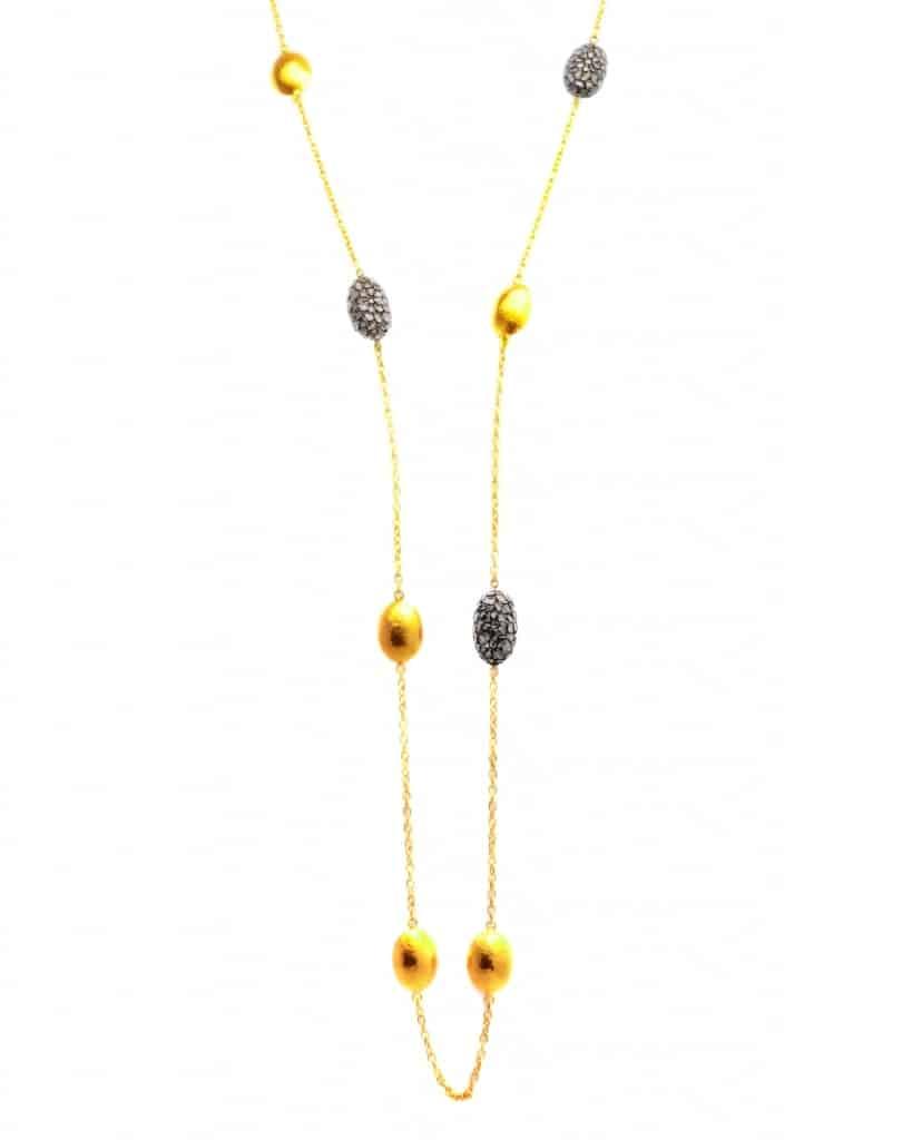 GURHAN Bold Pastiche Gold Long Station Necklace CHNL-7JLT-3DICL-2216