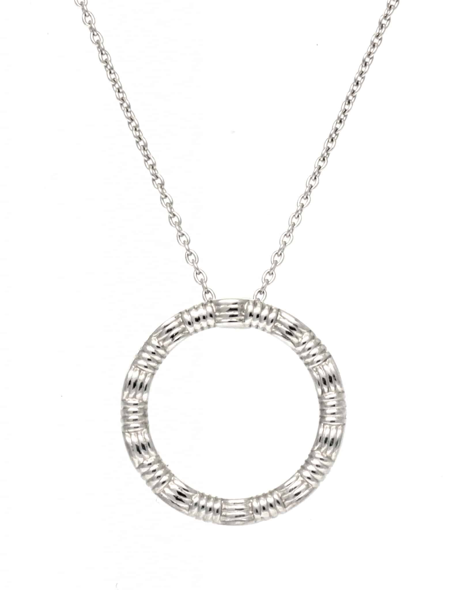 ROBERTO COIN 18K White Gold Small Appass Circle Necklace 777092AWCHOO