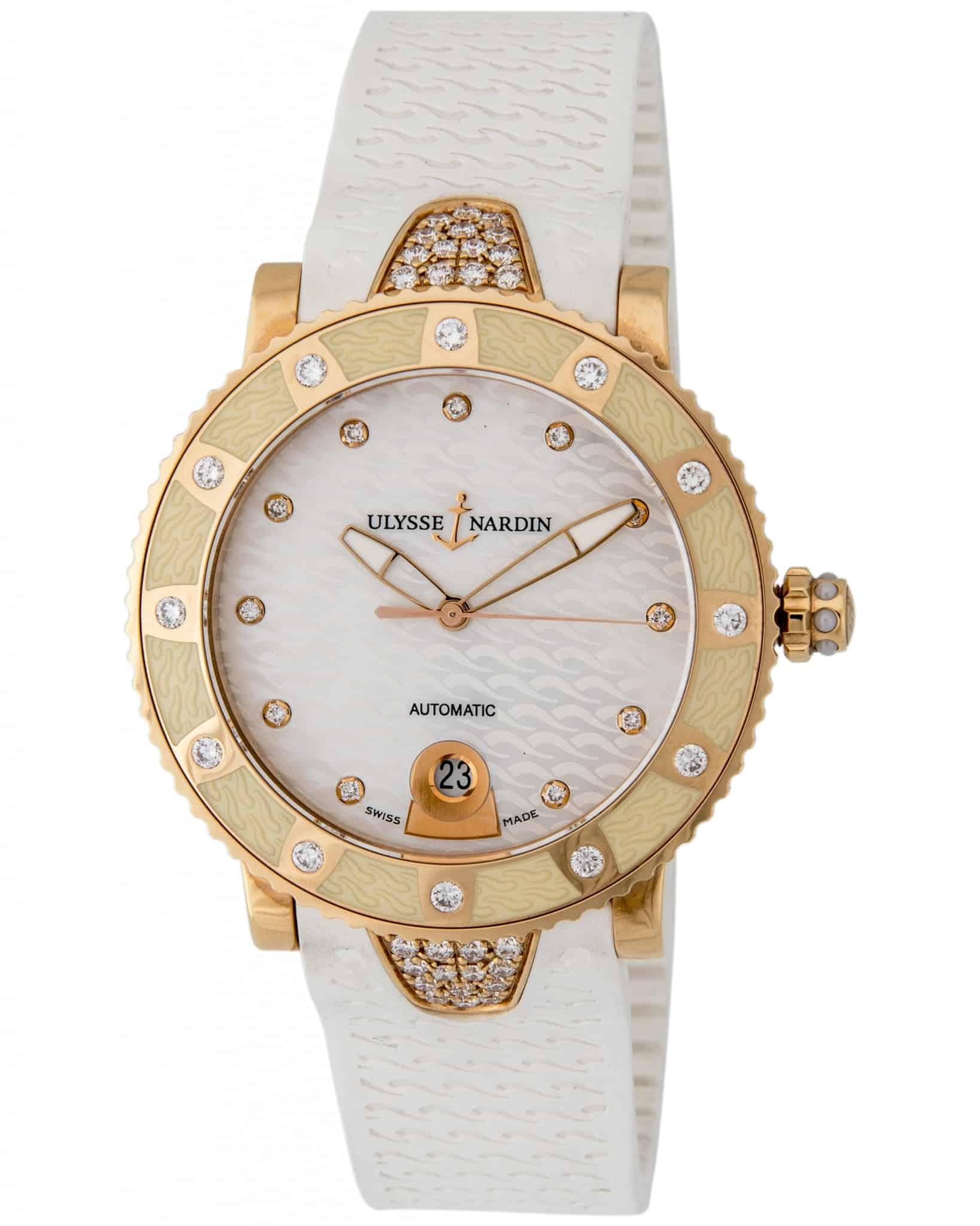Ulysse Nardin Lady Marine Diver Diamond Ladies Watch – 8106-101E-3C/10