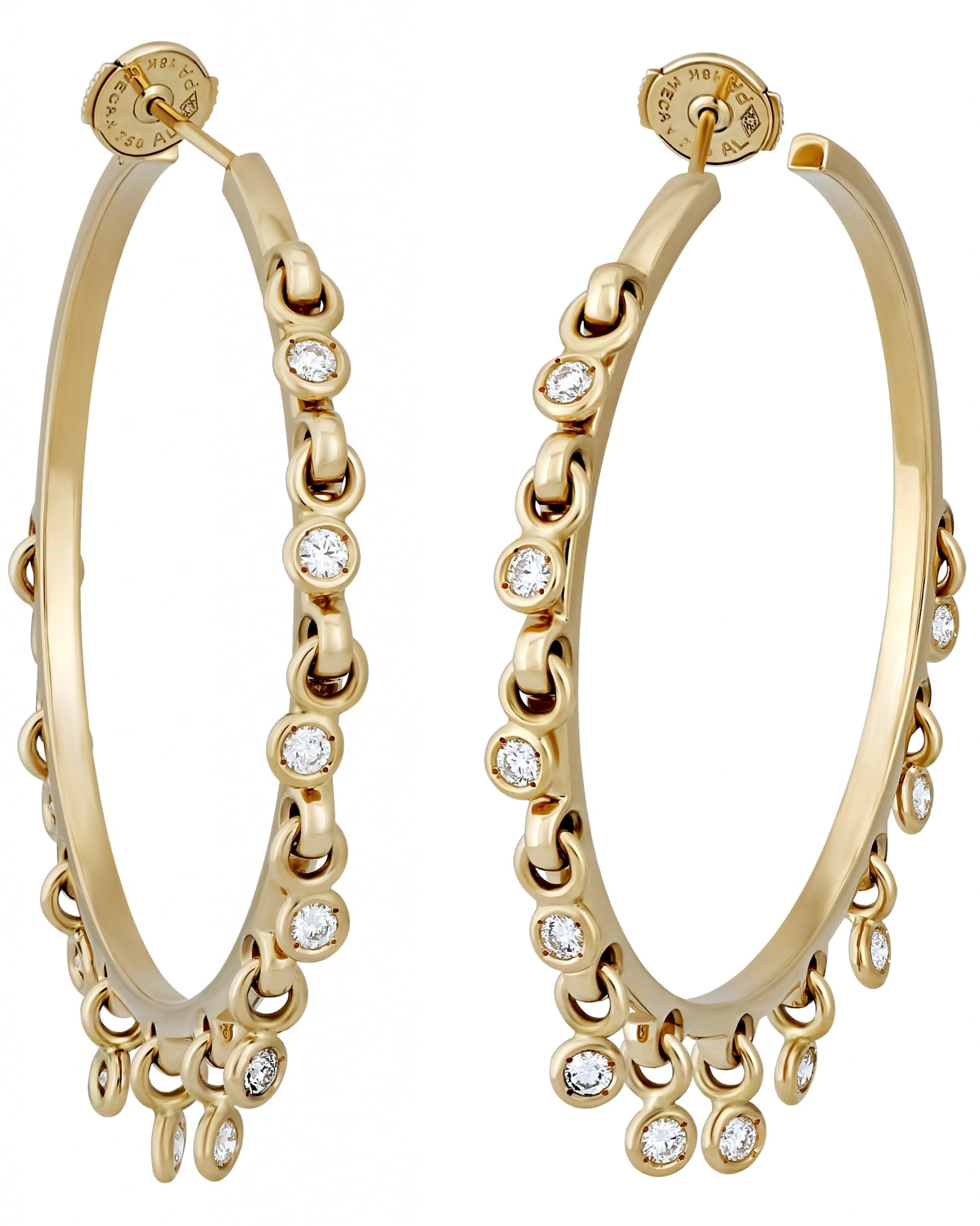 CHRISTIAN DIOR  – 'Coquine' 18K Yellow Gold, with Diamonds Earring JCQN95013