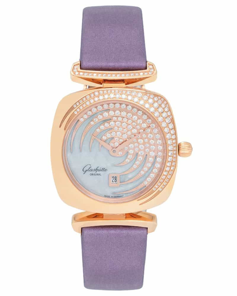 Glashutte Original 18K Rose Gold Pavonina Ladies Watch – 03-01-03-15-01