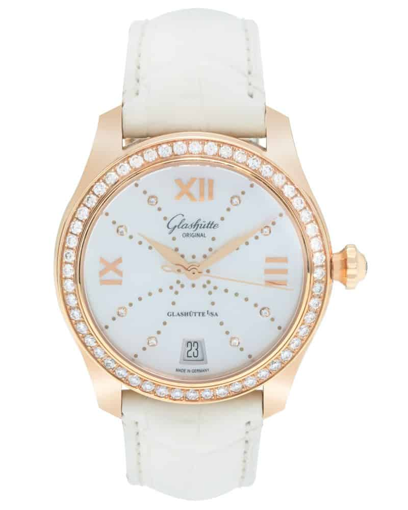 Glashutte Original 18K Rose Gold Lady Serenade Automatic Ladies Watch – 39-22-12-11-44