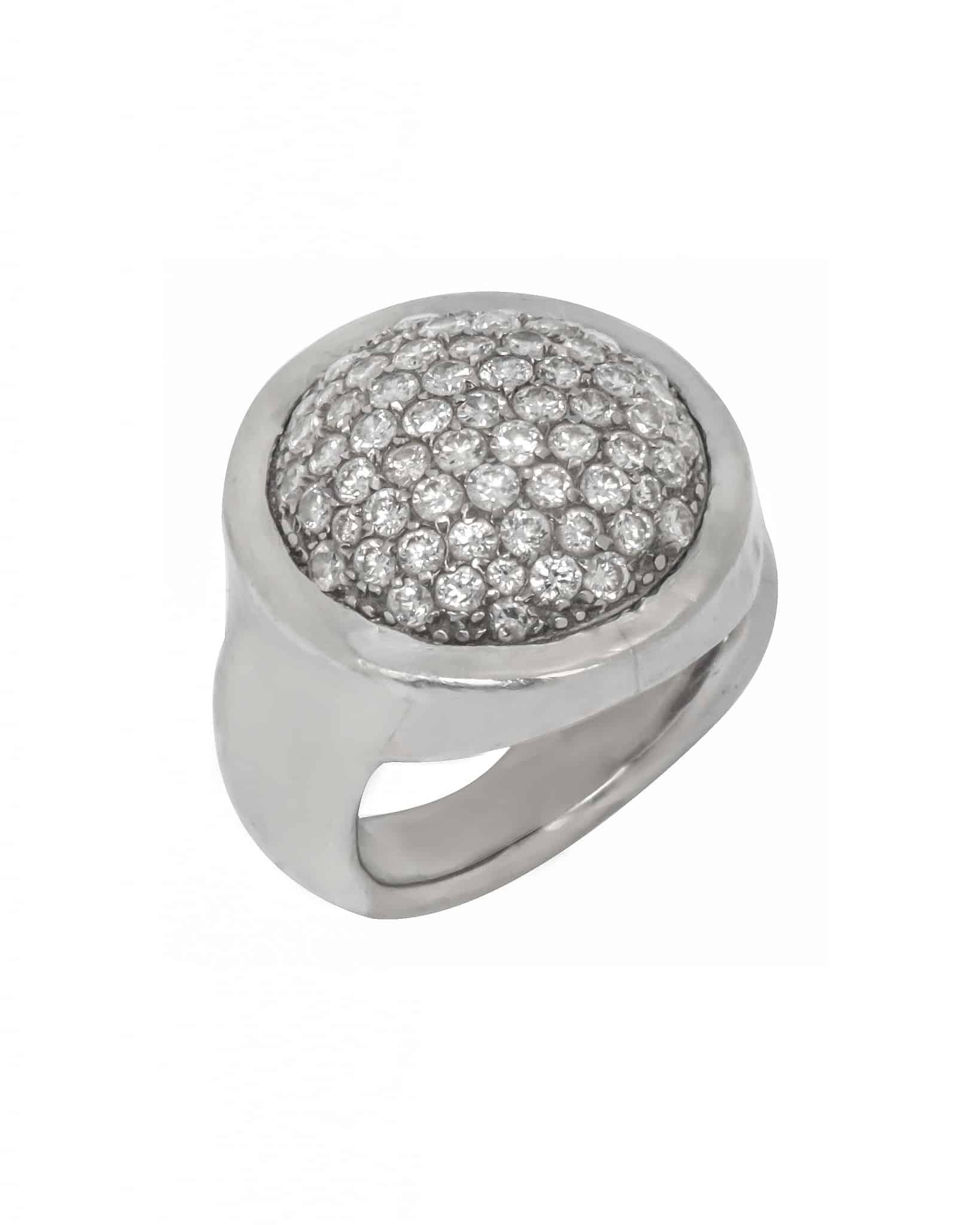 GURHAN Bijou Platinum Pave Diamond Ring PTR-PVRD23