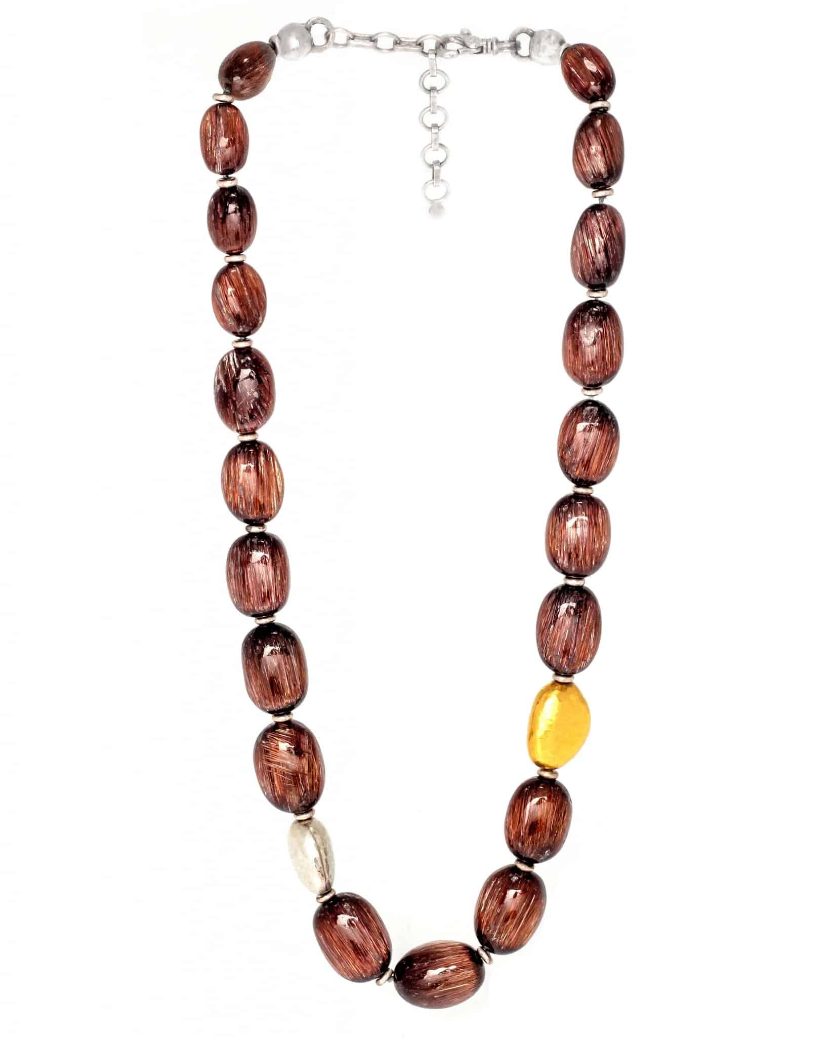 GURHAN Silver, Gold & Quartz Galapagos Necklace SN-U14478-RQB-S14D