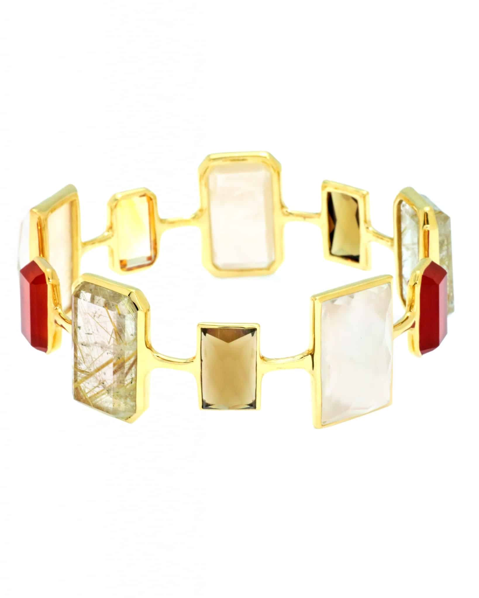 IPPOLITA 18K Rock Candy Gelato 10-Stone Bangle Bracelet GB629CASABLANC