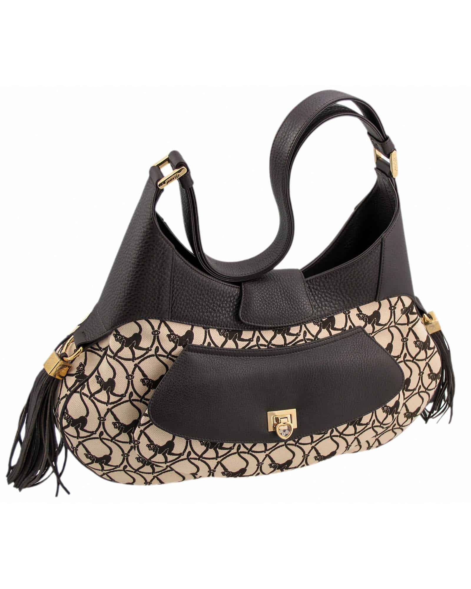 CHOPARD Madrid Bag, Brown Cloth And Brown Leather 95000-0308