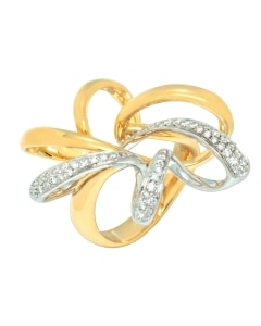 Bibigi 18K White & Yellow Gold Diamond Ring Size 4.75 ANB6176B