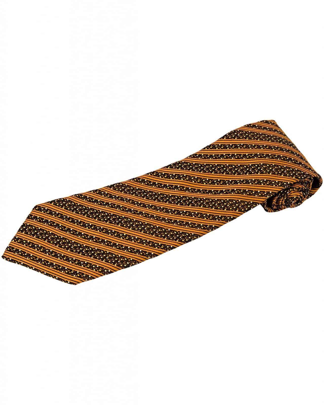 ZILLI – 100% Silk Tie Brown 5379V05