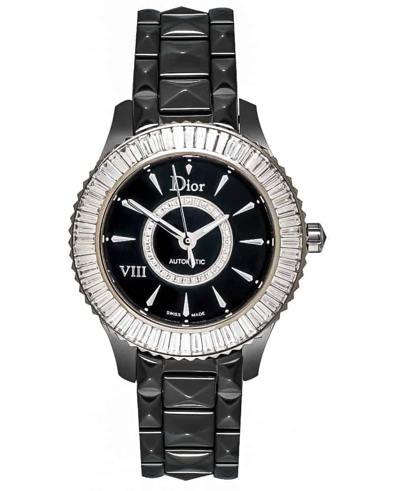 Dior Dior VIII Black Ceramic, White Gold & Diamond Ladies Automatic Watch CD1235F0C001