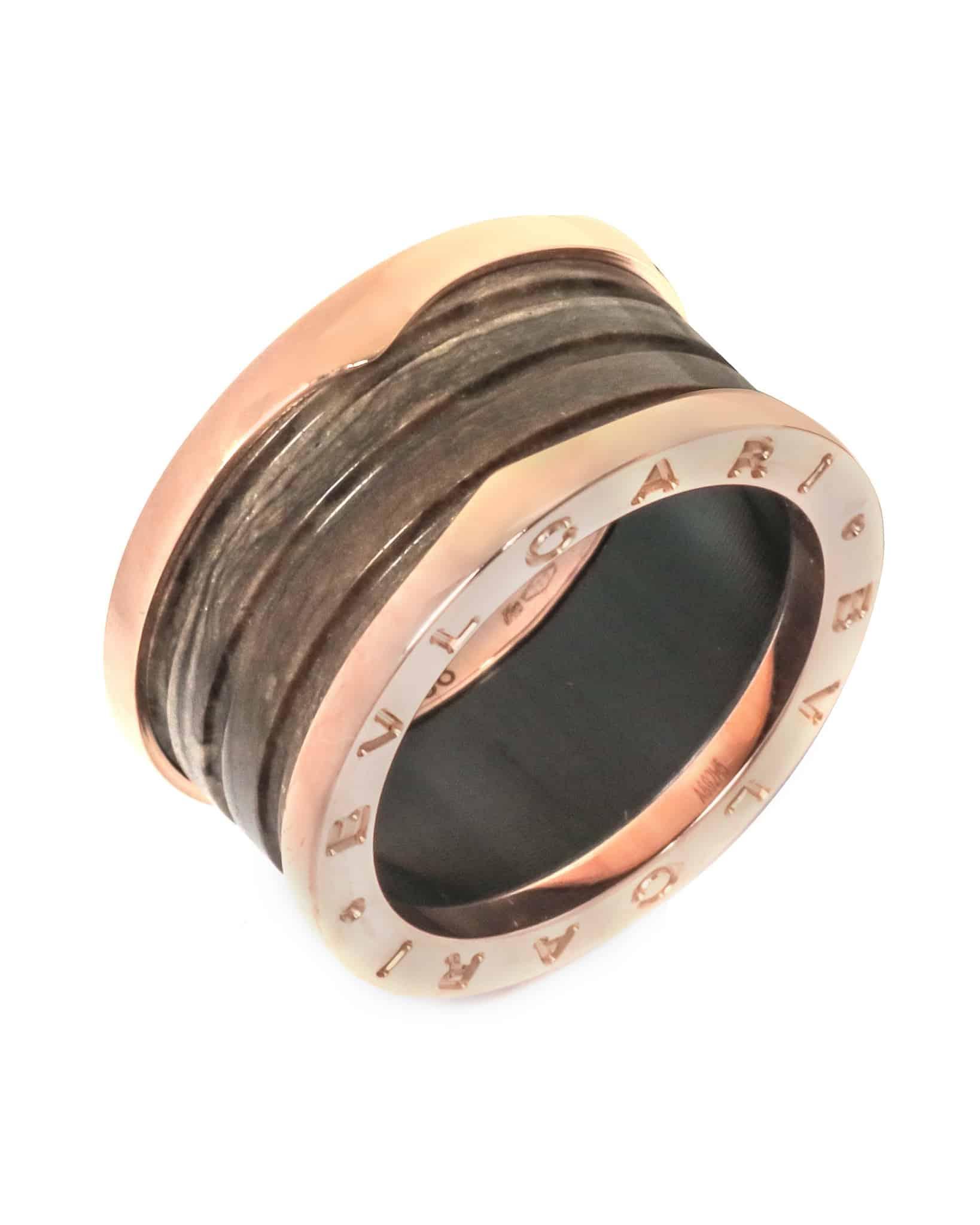 Bvlgari 18k Rose Gold B.zero 1 Ring AN856226