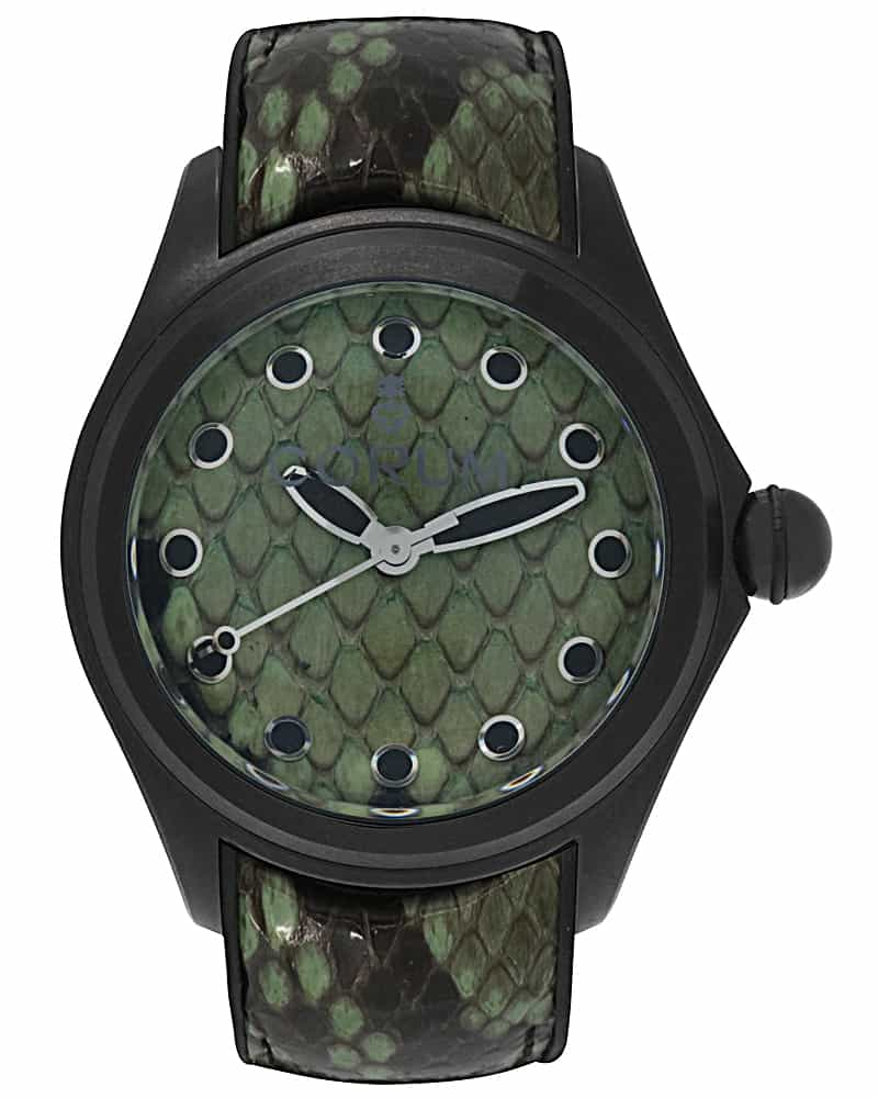 Corum Bubble 42 Python Pvd Coated Stainless Steel Automatic Ladies Watch 082.410.98/0337 PV01