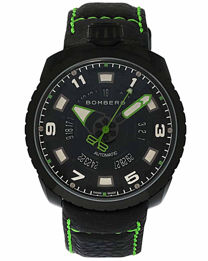 Bomberg Bolt-68 Pvd Coated Stainless Steel Automatic Date Men's Watch BS45APBA.045-3.3
