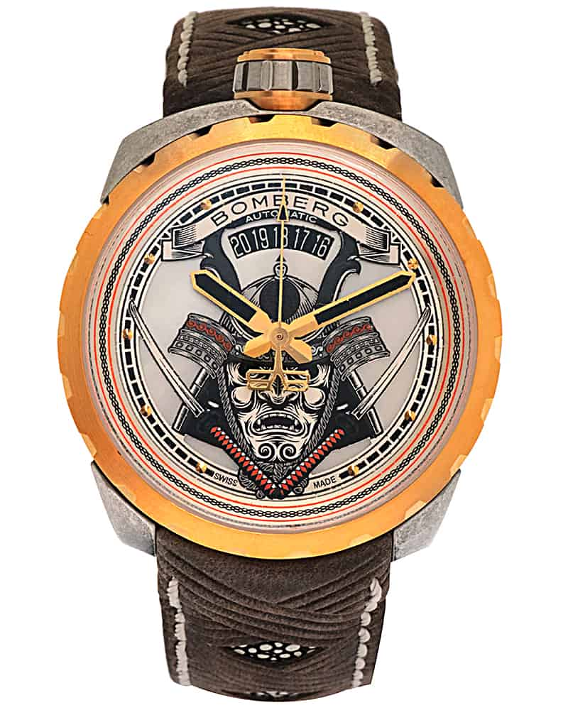 Bomberg Bolt 68 Samurai Pvd Coated Stainless Steel Automatic Men's Watch BS45ASPG.042-2.3