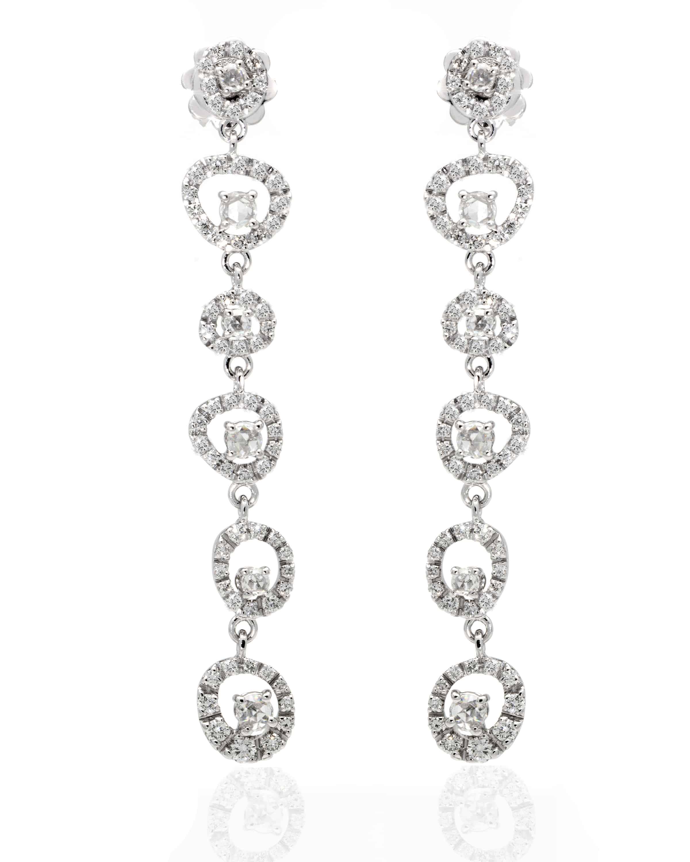 Damiani 18k White Gold With Diamond Dangle Earrings 20043535