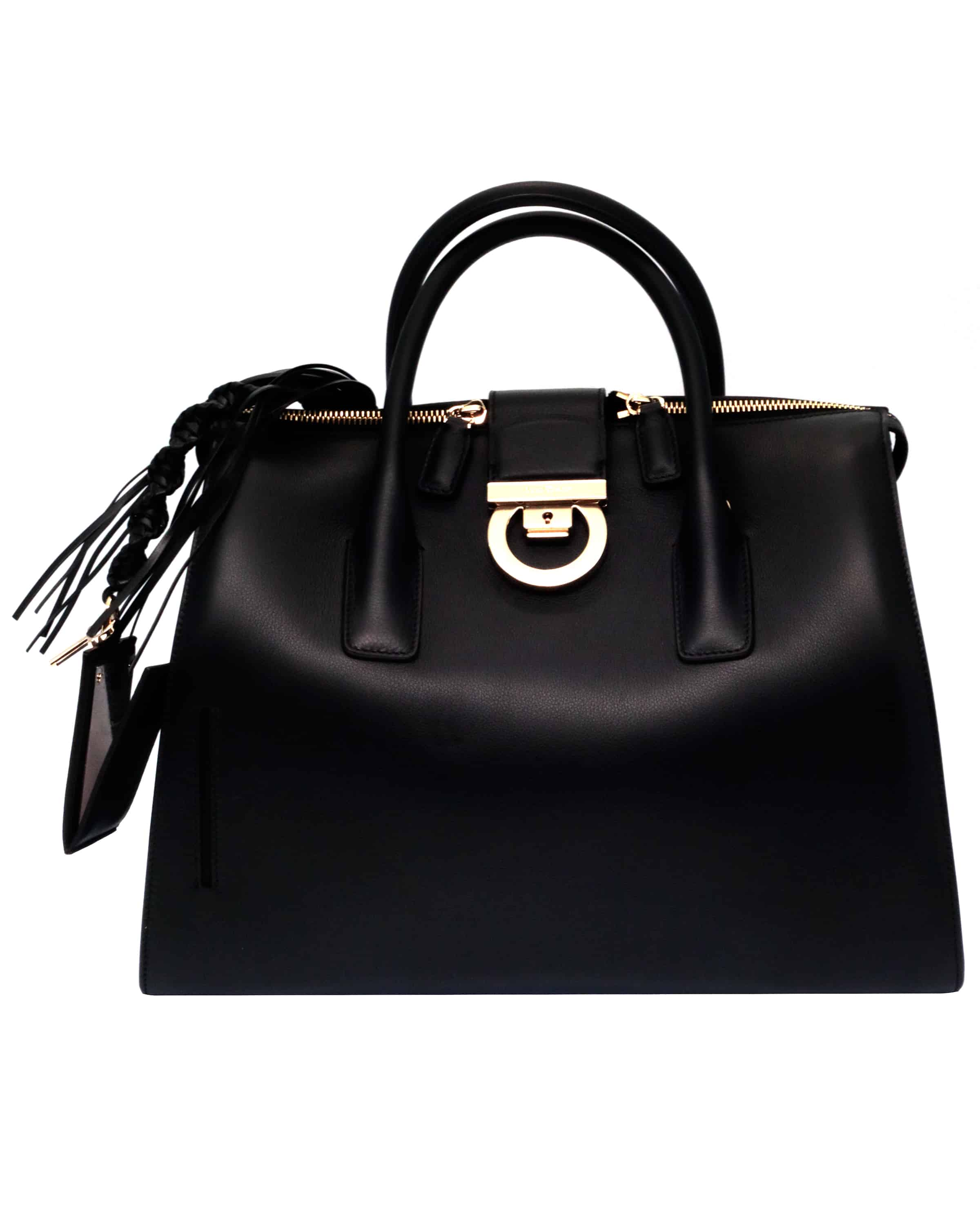 Ferragamo - Gancini Lock Doctor Bag Black 21H141-694003