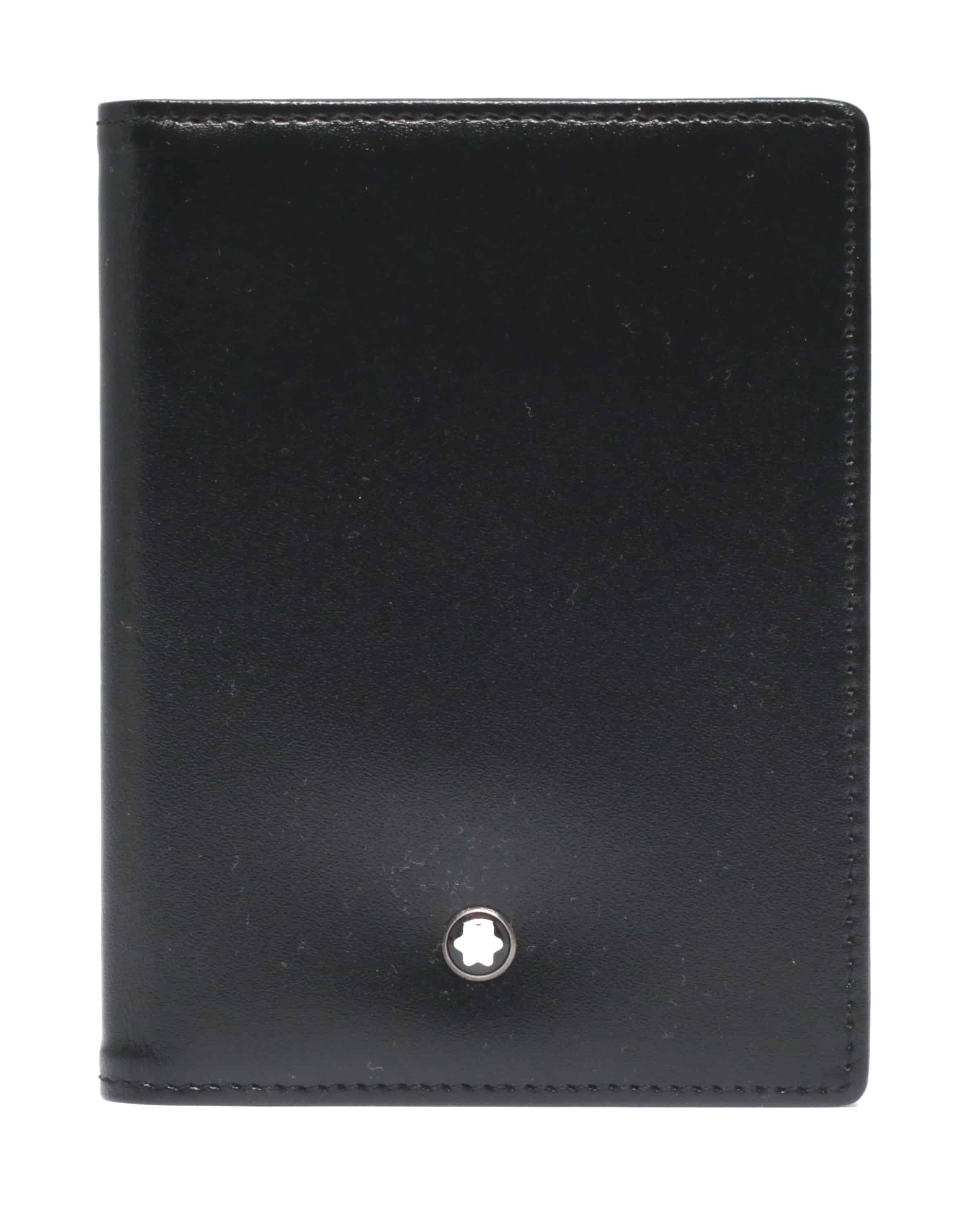 Montblanc Black Meisterstuck Credit Card Holder 5527